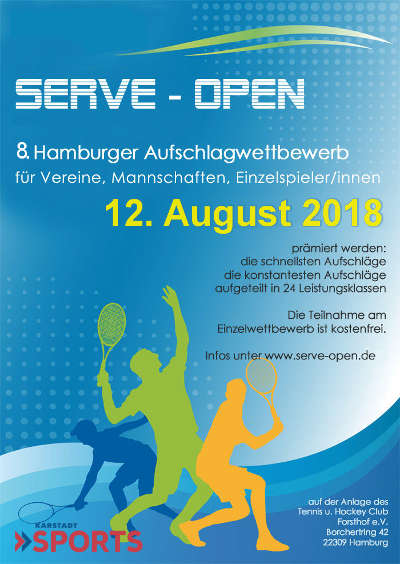 SERVE Open Plakat 2018